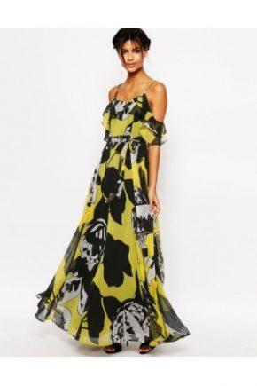 donna-vestiti-lunghi-asos-vestito-lungo-a-canotta-arricciato-giallo-e-nero-a-fiori